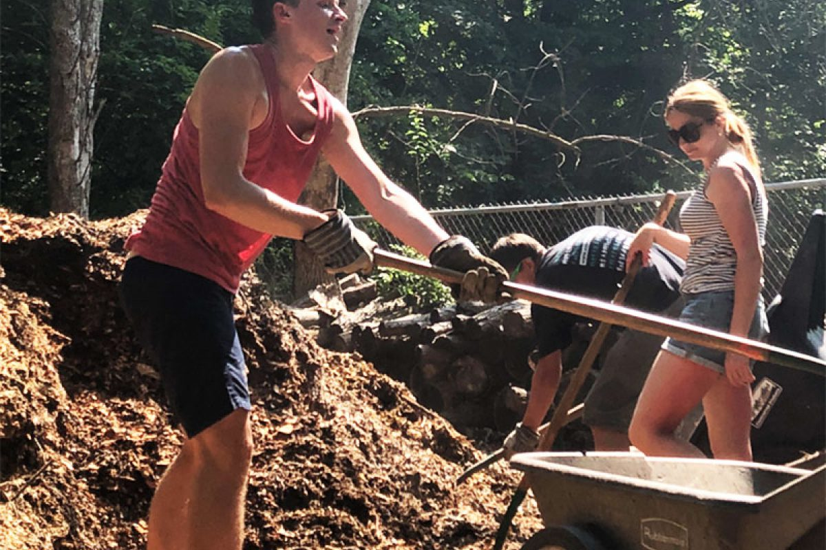Fellows from Belarus volunteer at a nature center in the city