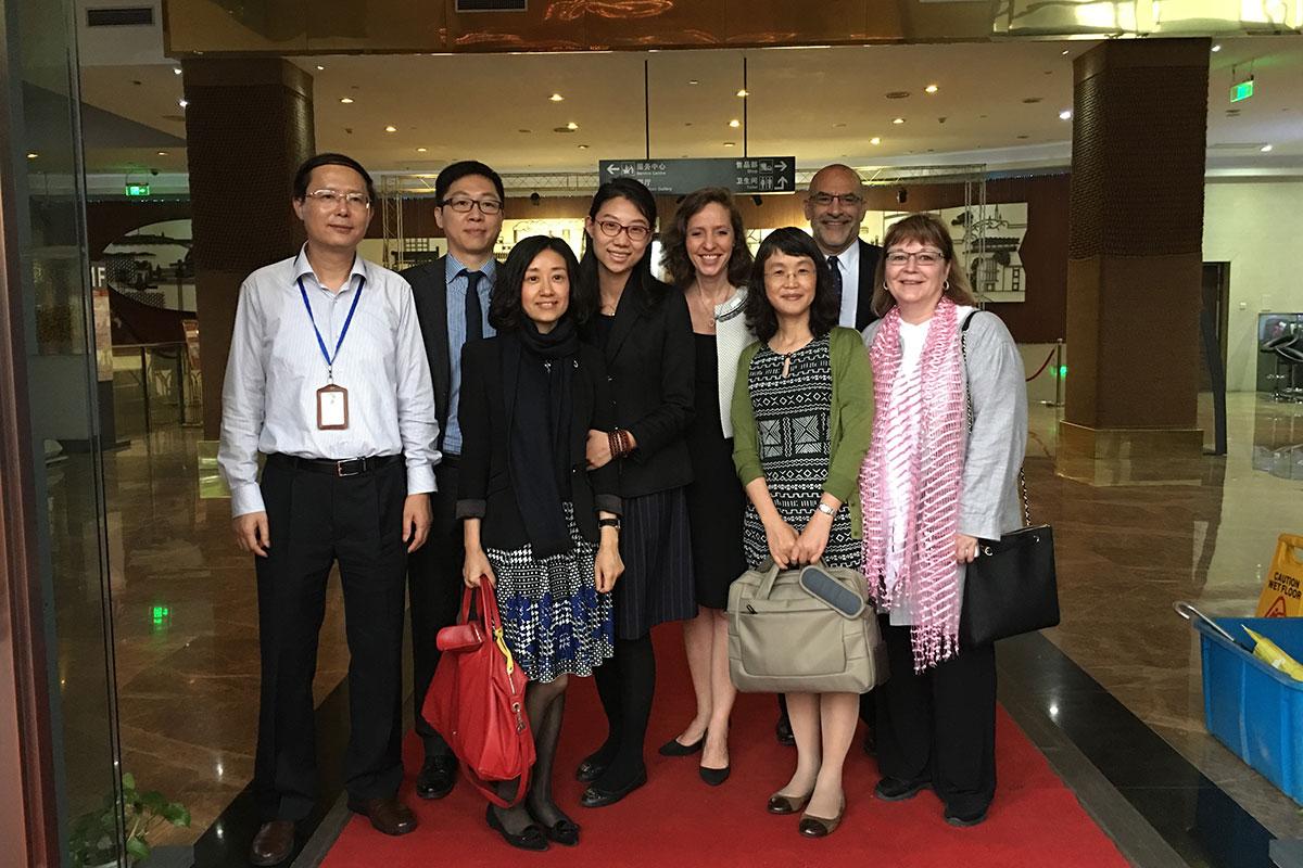 WorldChicago Staff Donna Sadlicki and Peggy Parfenoff in Shanghai for the Management Fellows Program