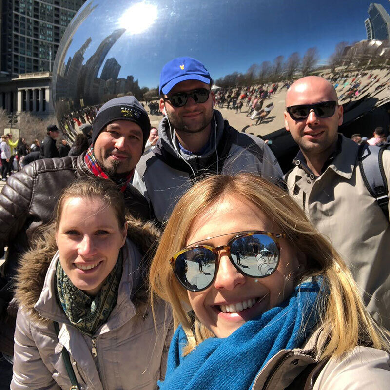 Pro Fellows from Europe visit Millennium Park