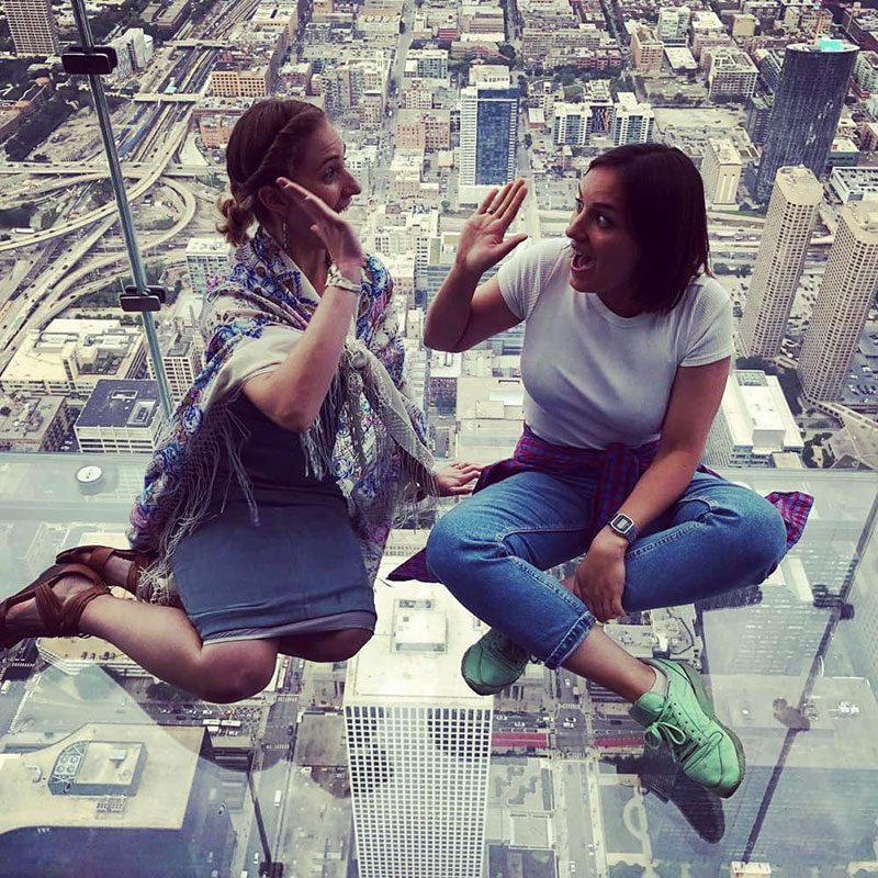 Russian Business Leader Daria with her host Corielle Laaspere at the Sky Deck