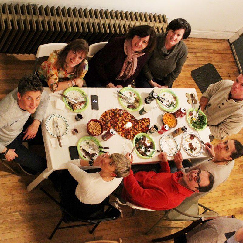 WorldChicago ProFellows at Roland Kulla's house for dinner